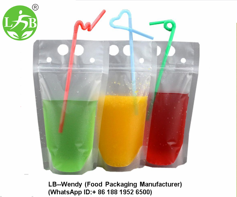 Juice Stand up ziplock Pouch