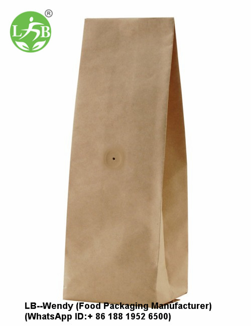Quad seal with value paper pouch
