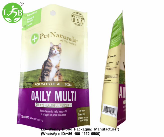 Stand up pets food pouch