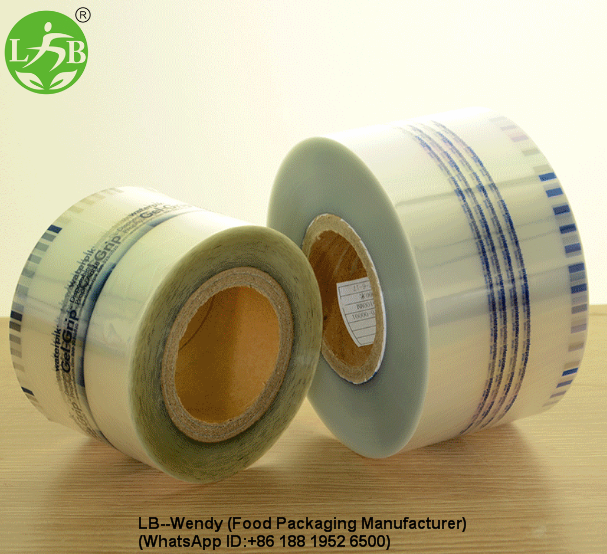 Clear plastic roll film